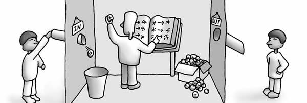 """O experimento mental desenvolvido por John Searle, chamado de """"Sala Chinesa"""" tenta mostrar que computadores não podem pensar."""