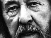 Solzhenitsyn - sobre o sofrimento e o bem estar
