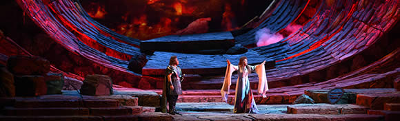 Encenação de uma ópera de Wagner, em Beijing, China, 2015.