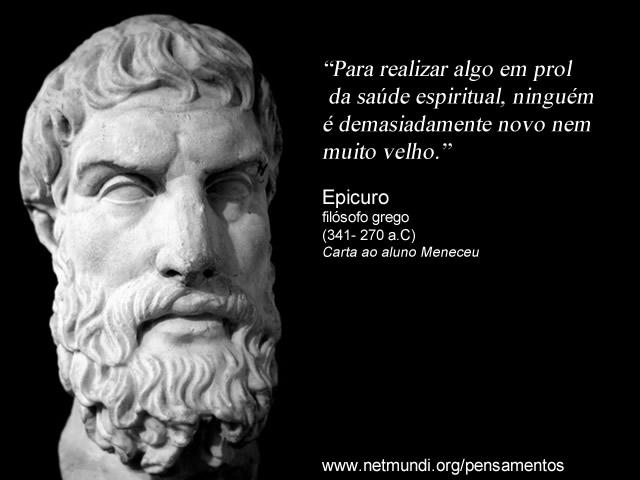 Epicuro, filosofia grega epicurismo