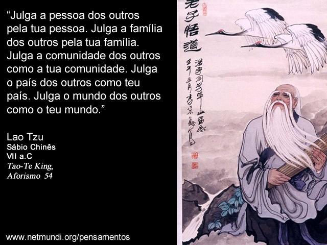 Lao Tzu, Sábio Chinês, VII a.C, Tao-Te King, Aforismo 54