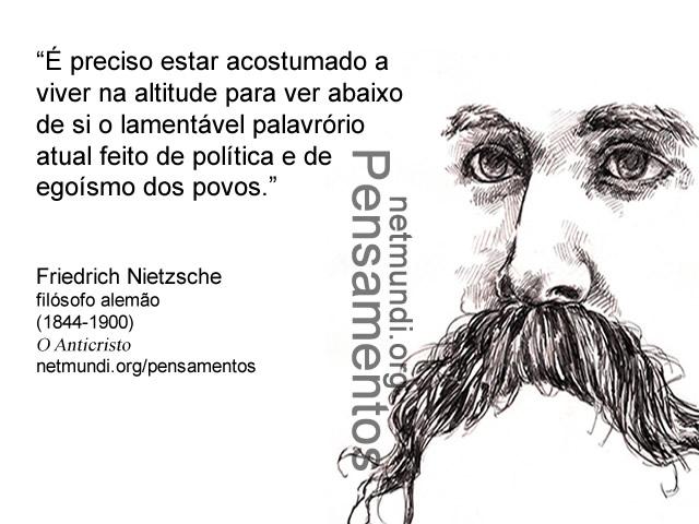 Friedrich Nietzsche, filósofo alemão (1844-1900)