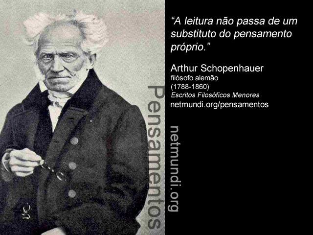 Arthur Schopenhauer filósofo alemão (1788-1860)