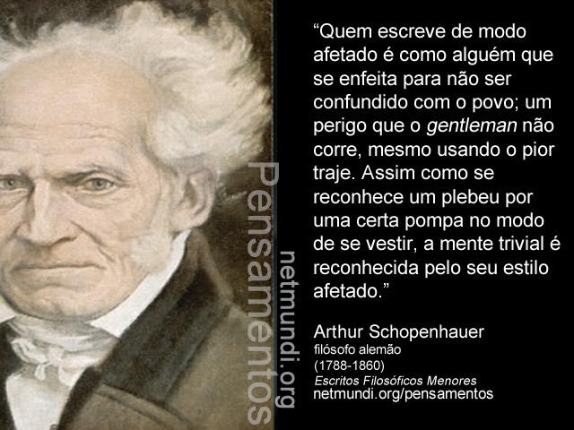 Arthur Schopenhauer, filósofo alemão, (1788-1860)