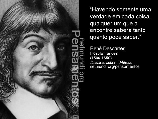 René Descartes, Filósofo Francês, Discurso sobre o método