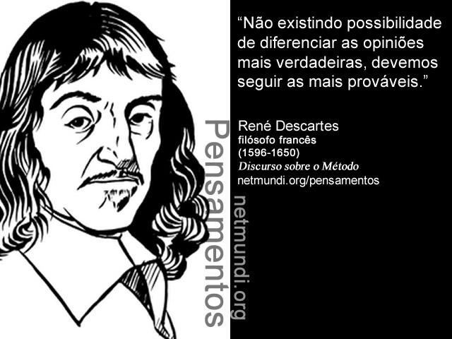Rene Descartes, Filósofo Francês, O discurso sobre o método
