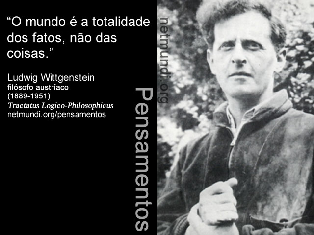 Ludwig Wittgenstein, filósofo austríaco, (1889-1951) ,Tractatus Logico-Philosophicus