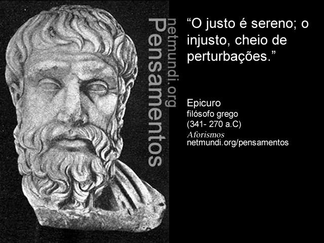 Epicuro, filósofo grego, (341- 270 a.C), Aforismos, epicurismo