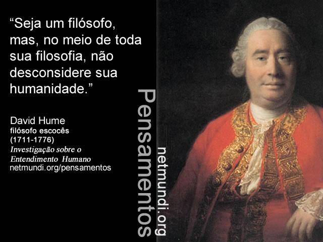 David Hume, filósofo escocês, investigação sobre o entendimento humano