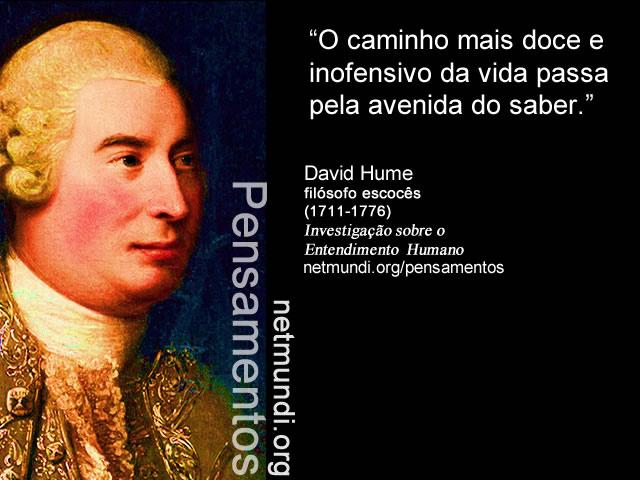 David Hume, filósofo escocês, tratado sobre o entendimento humano