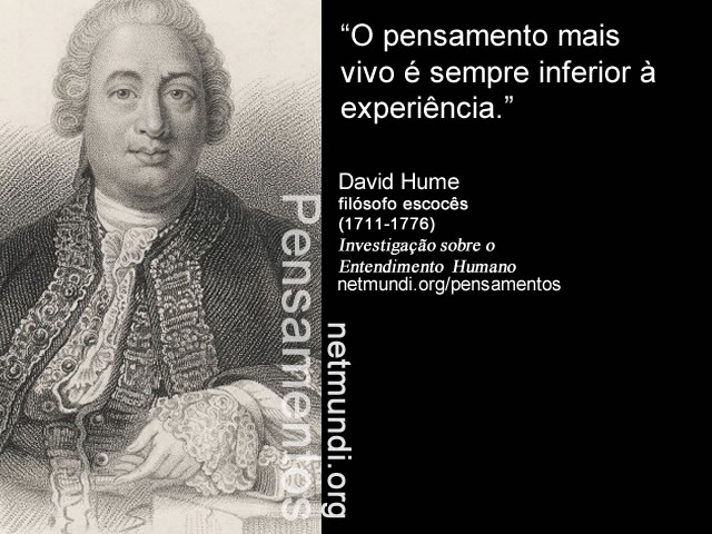 David Hume, filósofo escocês, investigações sobre o entendimento humano