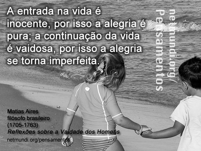 matias aires, filósofo brasileiro,