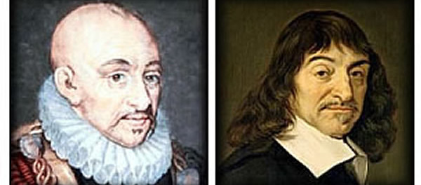Michel de Montaigne e René Descartes