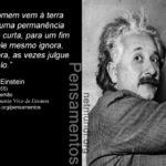 Pensamentos do cientista alemão Albert Einstein (1879 - 1955)