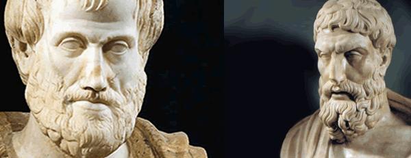 Aristóteles e Epicuro