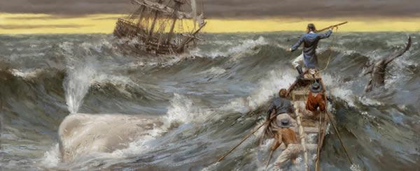 Moby Dick, óleo obre tela de Andy Thomas