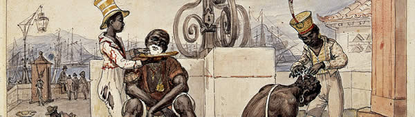 Barbeiros Ambulante, de Jean-Baptiste Debret