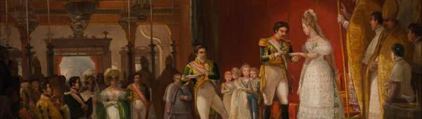 Casamento de Dom Pedro I e Amélia, de Jean-Baptiste Debret