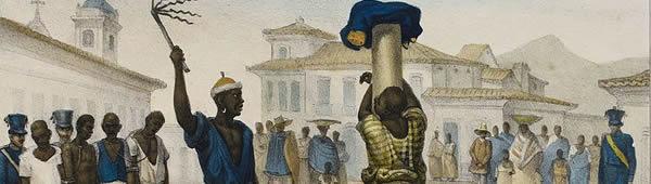 Execução de punição por flagelo, de Jean-Baptiste Debret