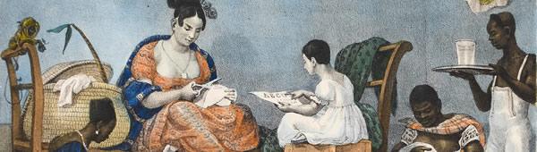 Senhora comum em meio aos seus afazeres diários, de Jean-Baptiste Debret