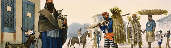 Casa para alugar, cabra e cavalo para venda, de Jean-Baptiste Debret