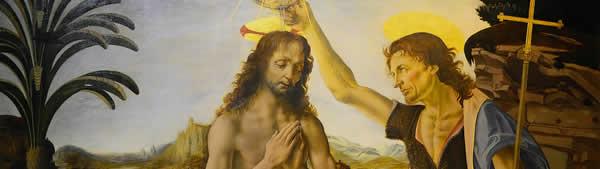 Leonardo Da Vinci - O Batismo de Cristo