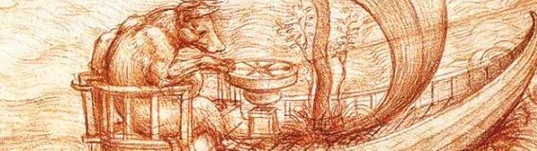 Leonardo da Vinci - Alegoria de Barco, touro e águia