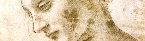 Estudo de cabeça de mulher - Leonardo da Vinci