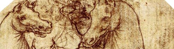 Estudo de Cavalo e Cavaleiro - Leonardo da Vinci
