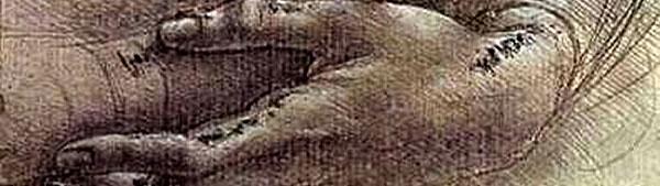 Estudo de Braços e mãos - Leonardo da Vinci