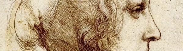 Estudo de perfil de jovem mulher - Leonardo da Vinci