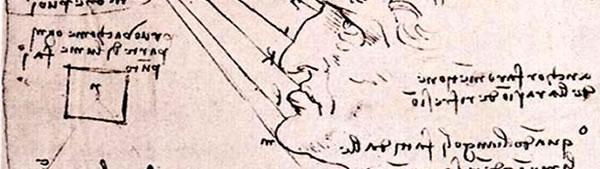Estudo sobre efeito de luz - Leonardo da Vinci