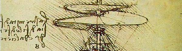 Parafuso Helicoidal (helicóptero) - Leonardo da Vinci