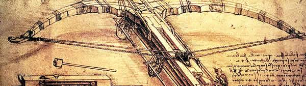 Projeto de balestra gigante - Leonardo da Vinci