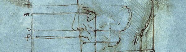 Proporções da cabeça - Leonardo da Vinci