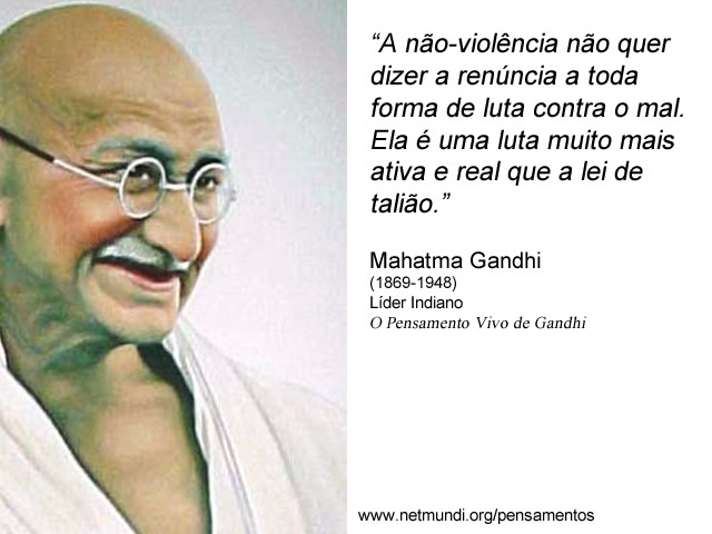 Mahatma Gandhi Pensamentoa
