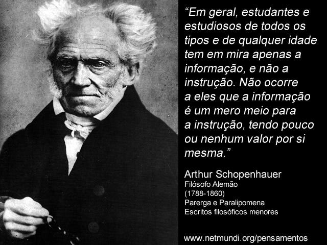 Arthur Schopenhauer Frases