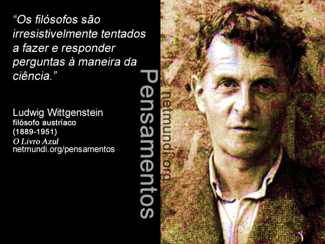 Ludwig Wittgenstein , filósofo austríaco, (1889-1951)