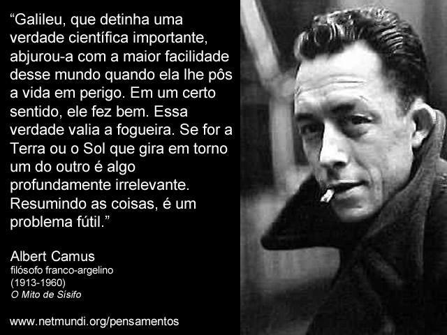 Albert Camus, Filósofo Franco Argelino