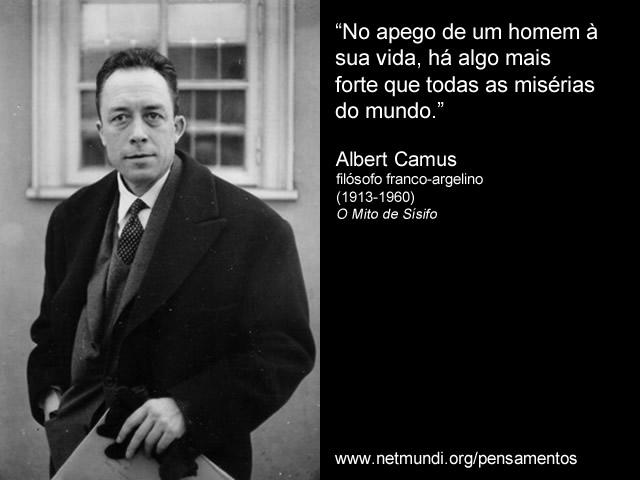 Albert Camus, Filósofo franco-argelino