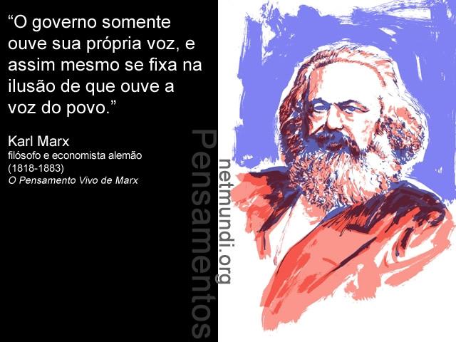 Karl Marx, filósofo e economista alemão.