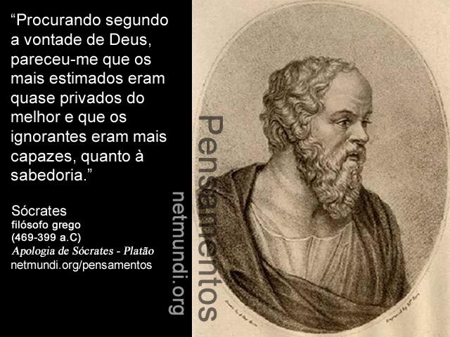 Sócrates, filósofo grego, (469-399 a.C), Apologia de Sócrates, Platão