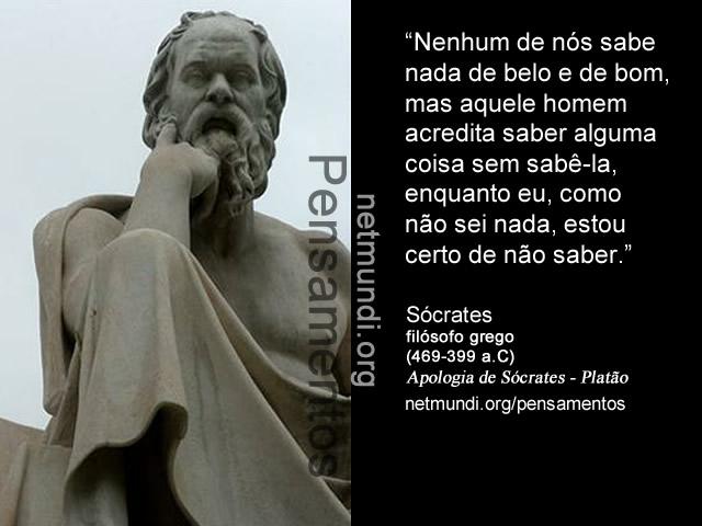 Sócrates, filósofo, grego, (469-399 a.C), Apologia de Sócrates , Platão