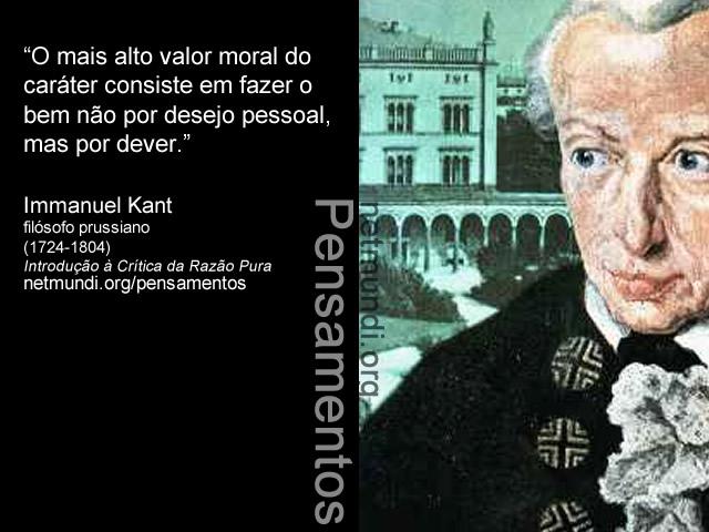 Immanuel Kant, A crítica da razão pura, Filósofo prussiano