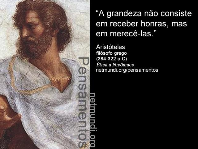 Aristóteles, filósofo grego, ética a nicômaco