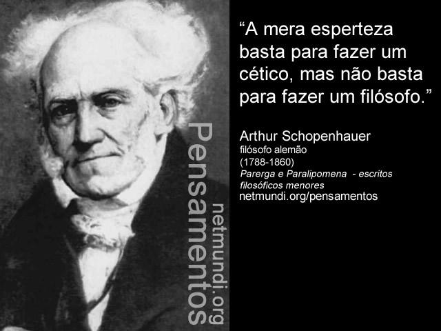 Arthur Schopenhauer filósofo alemão (1788-1860) O Mundo como Vontade e Representação