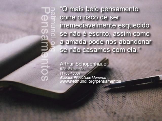 """Schopenhauer, filósofo alemão. Autor de """"O mundo como vontade e Representação"""""""