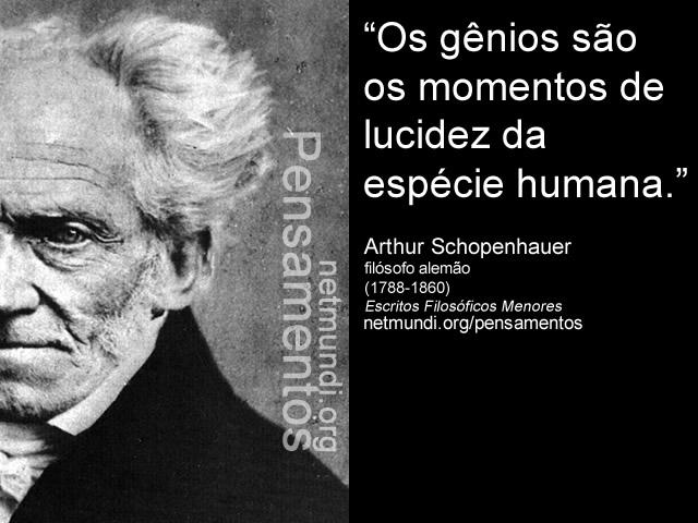 Arthur Schopenhauer, filósofo alemão