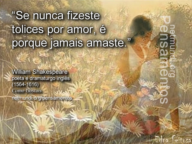 Willian Shakespeare, dramaturgo inglês