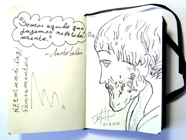 Aristóteles, Filósofo grego , discípulo de platão